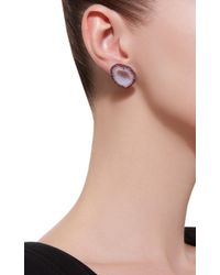 Kimberly Mcdonald - 18k White Gold, Pink Sapphire And Light Geode Earrings - Lyst