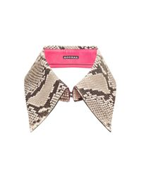 Rochas - Pink Snake Skin Collar - Lyst