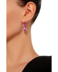 Renee Lewis - 18k White Gold Pink Sapphire Earrings - Lyst