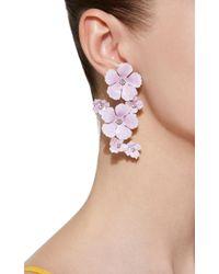 Jennifer Behr - Purple Lilac Painted Brass Crystal Earrings - Lyst