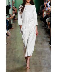 Tibi - White Sequined Wide Legged Pants - Lyst