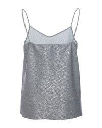 Blumarine - Metallic Lurex Camisole - Lyst