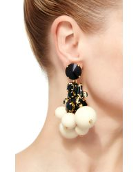 Marni - White Strass Drop Earring - Lyst