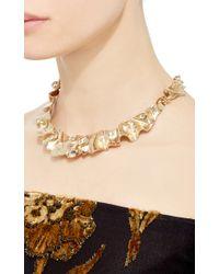 Oscar de la Renta - Metallic Flounced Necklace - Lyst