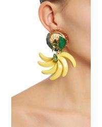 Dolce & Gabbana - Yellow Resin Banana Earrings - Lyst