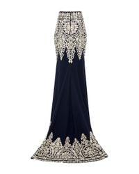 Naeem Khan - Blue Threadwork Floor Length Skirt - Lyst