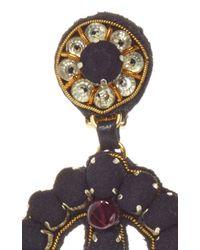 Ranjana Khan - Multicolor Brass Onyx Ruby Earrings - Lyst