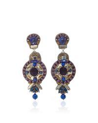 Ranjana Khan | Black Lapis Brass Earrings | Lyst
