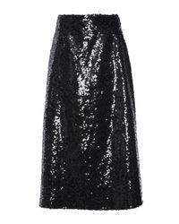 Christopher Kane | Black Sequin Midi A Line Skirt | Lyst