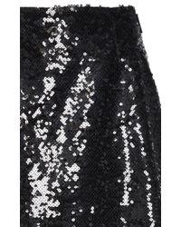 Christopher Kane - Black Sequin Midi A Line Skirt - Lyst