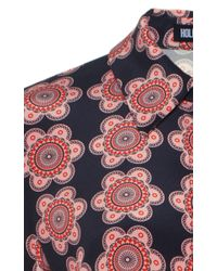 Holly Fulton - Pink Long Sleeve Floral Blouse - Lyst