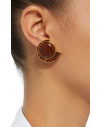 Monica Sordo | Brown Obsidian Nautilus Earfan Baby Earrings | Lyst