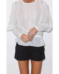 Talitha White Lace Insert Victorian Blouse