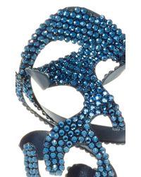 Rosie Assoulin - Blue Roxanne Assoulin For Swarovski Large Sculptural Earrings - Lyst