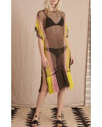 A Peace Treaty - Multicolor Kassena Crocheted Fringe Caftan - Lyst