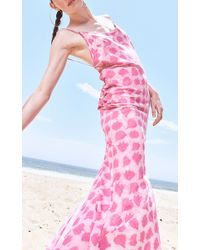 Jaline - Pink Manuela Handpainted Maxi Dress - Lyst