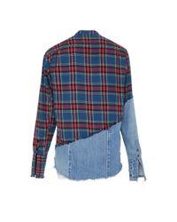 Greg Lauren - Blue Boulder Button-up Shirt for Men - Lyst