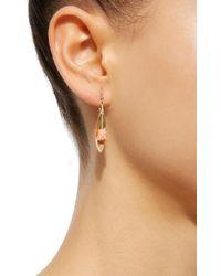 Annette Ferdinandsen - 18k Gold Pink Coral Tulip Earrings - Lyst