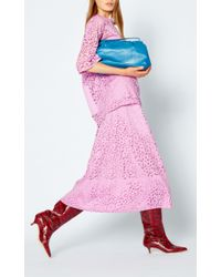 Tibi - Pink Lace Full Skirt - Lyst