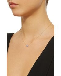 Alison Lou - Purple 14k Gold And Diamond Wildflower Necklace - Lyst