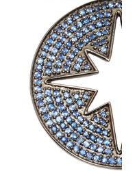 Sydney Evan - Starburst Medallion With Blue Sapphires Charm - Lyst