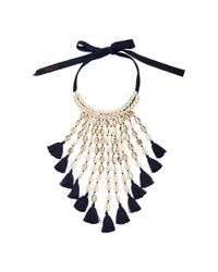 Figue | Blue Navy Sina Necklace | Lyst