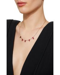 Jacquie Aiche - Diamond And Pink Tourmaline Teardrop Necklace - Lyst