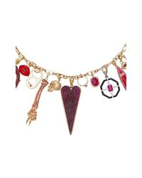 GEMFIELDS X MUSE - Metallic Full Ruby Charm Necklace With Gold Chain - Lyst