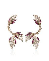 Marni   Pink Jewel Embellished Pair Of Ear Cuffs   Lyst
