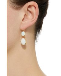 Renee Lewis - White 18k Gold Opal Earrings - Lyst