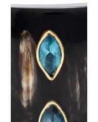 Ashley Pittman - Brown Ufalme Dark Horn And Multi-stone Cuff - Lyst
