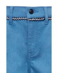 Tory Burch - Blue Jodie Embroidered Jean - Lyst