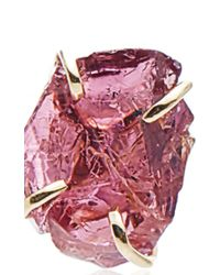 Melissa Joy Manning - Red Limited Edition 14k Yellow Gold Rhodolite Garnet Crystal Post Earring - Lyst