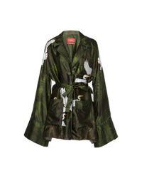 For Restless Sleepers Green Peito Bird Kimono Top