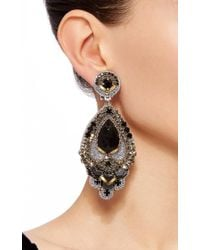 Ranjana Khan - Black Beaded Drop Earrings - Lyst