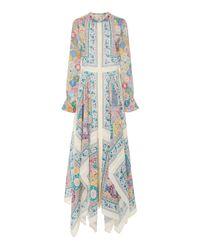 Altuzarra - White Tamourine Asymmetric Silk Maxi Dress - Lyst
