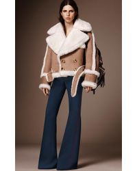 Burberry - Blue Silk And Wool Luggage Stitch Trouser - Lyst