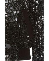 Elie Saab - Black Flower Embroidered Bomber Jacket - Lyst