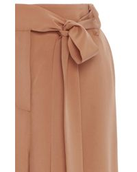 Tibi - Brown Relaxed Wide Leg Pants - Lyst