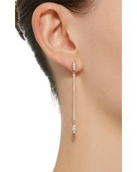 Carbon & Hyde - White Matchstick 18k Rose Gold Diamond Earrings - Lyst