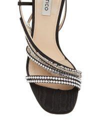 Attico - Black Baby Crystal Sandals - Lyst