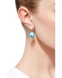 Delfina Delettrez - Blue Stone-edge Piercing Earring - Lyst