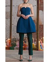 Rosie Assoulin - Blue Strapless Lamp Top - Lyst