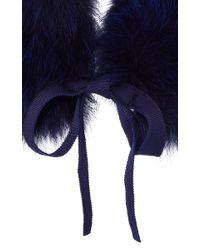 Burberry - Blue Classic Fox Collar - Lyst