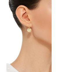 Annette Ferdinandsen | Metallic 18k Gold Small Lily Pad Earrings | Lyst