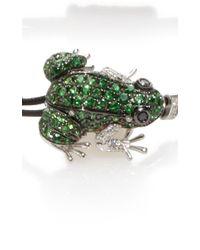 Pippo Perez | Green Garnet Frog Bracelet | Lyst