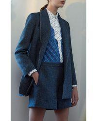 Rosetta Getty - Blue Western Cotton Button Up Romper - Lyst