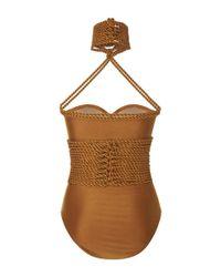 Lenny Niemeyer   Metallic Shibari Rope Maillot Swimsuit   Lyst