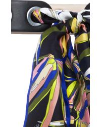 Emilio Pucci - Black Needle And Thread Scarf Belt - Lyst