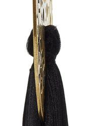 Jaline - Black Emma Tassel Earring - Lyst